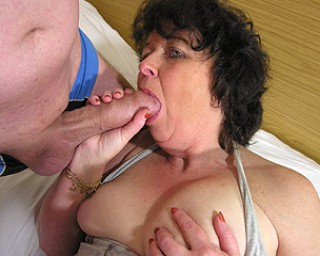 This mama can enjoy two hard cocks